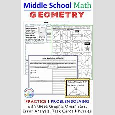 6th Grade Math, 7th Grade Math, 8th Grade Math  Geometry Skills Practice And Problem Solving