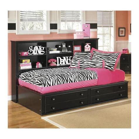 jaidyn twin bookcase bed  black nebraska furniture