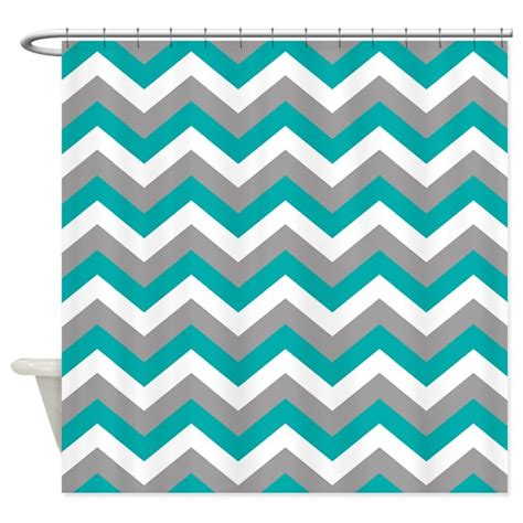 chevron pattern drapes grey teal chevron pattern shower curtain by colors and
