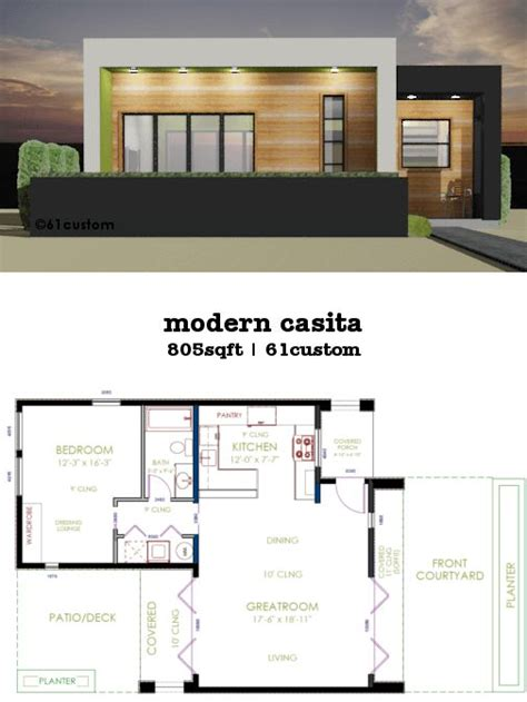casita plan small modern house plan small modern house plans guest house plans minecraft