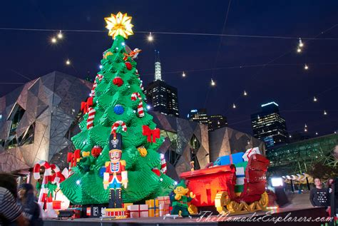christmas decorations in melbourne night walk the