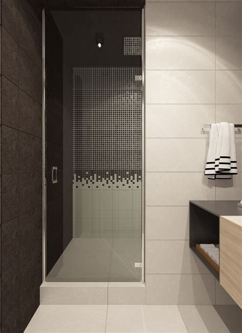 Cool Bathroom Showers by A Contemporary Apartment With Lots Of Open Space