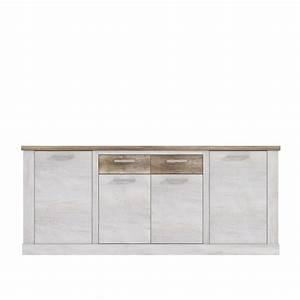 Sideboard Weiß Antik : sideboard 4 trg duro von forte pinia wei eiche antik ~ Orissabook.com Haus und Dekorationen