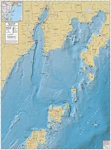 Big  U0026 Little Bay De Noc Wall Map