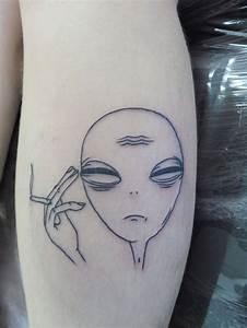 25+ best ideas about Alien tattoo on Pinterest   Ufo ...