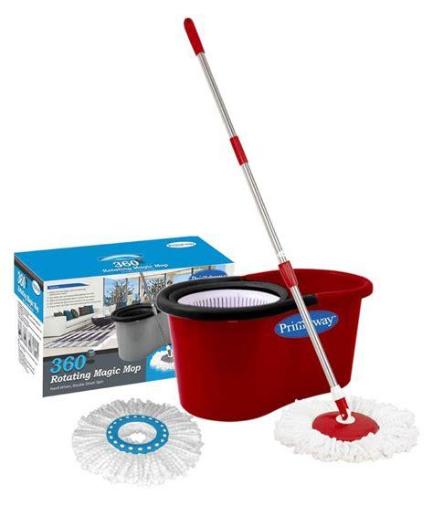 lock n lock mop primeway 360 rotating magic mop bucket with 2 microfiber mop heads red buy primeway 360