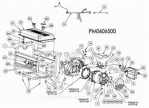 Powermate Formerly Coleman Pm0606500 Parts Diagram For