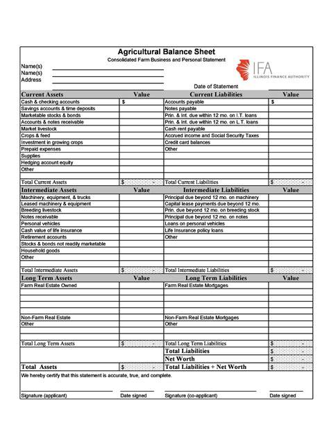 balance sheet templates examples templatelab