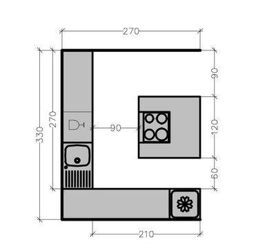 plan cuisine 9m2 dimension ilot cuisine cuisine en image