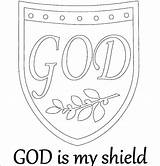 Shield Coloring Pages Night Medieval God Getcolorings Printable Print Faith Armor sketch template