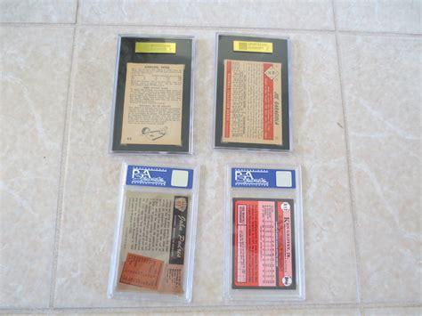 We did not find results for: Lot Detail - (4) Slabbed Sports cards:1953 BC Garagiola, 55 Bowman Podres, 63-4 Parkhurst, 89 TT ...