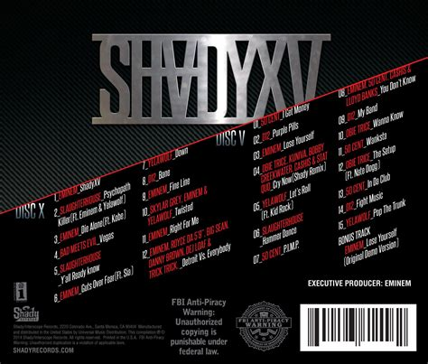 eminem curtains up tracklist eminem unveils shady xv tracklist 2dopeboyz