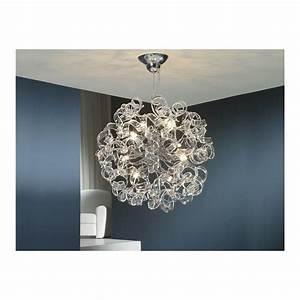 Schuller, 542013d, Art, Deco, Chrome, Hanging, Crystal, Ceiling, Light, Pendant