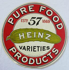Vintage PURE FOOD PRODUCTS HEINZ 57 VARIETIES Crate Label ...