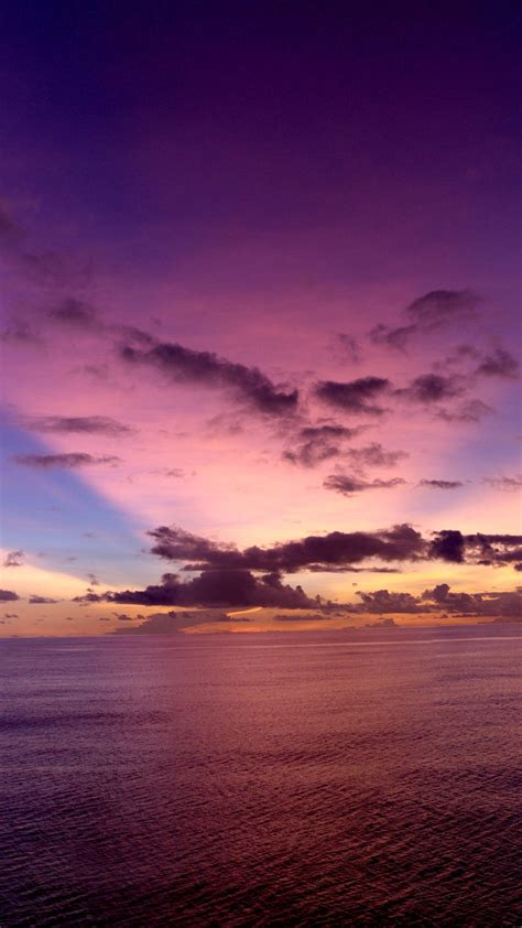 wallpaper pacific ocean   wallpaper sunset purple rays clouds nature