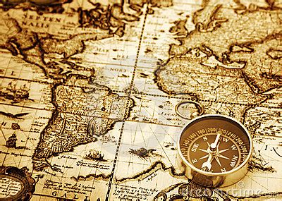 compass  vintage map stock image image