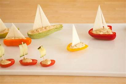 Boats Party Vegetable Veggie Pirate Themed Snack