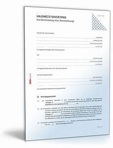Hausmeistervertrag mit mietvertrag fur werkswohnung for Mietvertrag werkswohnung kostenlos