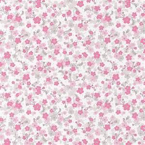 caselio 39pretty lili39 tapete 39blumchen39 pink rosa hellgrau With balkon teppich mit tapeten rosa