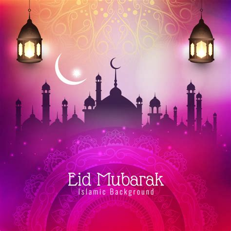 vector abstract eid mubarak islamic festival