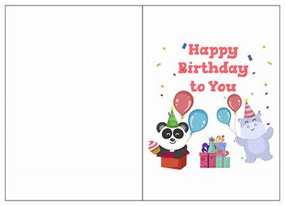 Birthday Cards Printable Card Coloring Folding Templates