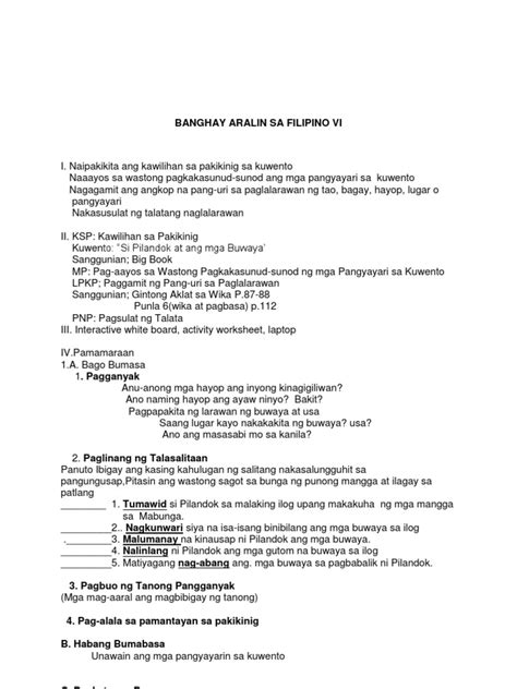 lesson plan in filipino grade 5 lesson plan for grade 8 deped lesson zicars