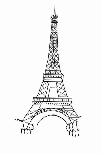 Eiffel Tower Coloring Coloriage Tour Eiffelturm Printable