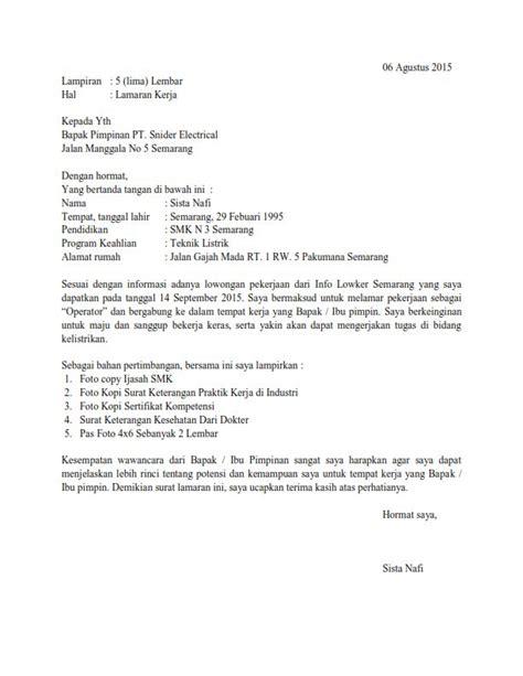 contoh resume kerja part time application letter surat lamaran pekerjaan application letter surat lamaran kerja contoh