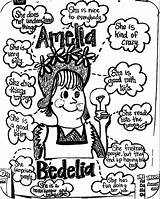Amelia Bedelia Coloring Pages Colouring Printable Wecoloringpage Sheets Books sketch template