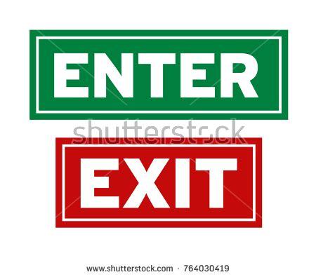 exit light enter enter exit stock images royalty free images vectors