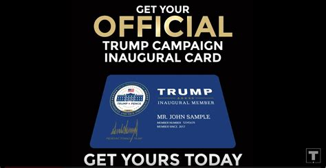 Donald john trump (b.queens, new york, on june 14, 1946), nicknamed the donald, is the 45th president of the united states of america, as a result of winning the 2016 presidential election as the republican party nominee. Donald Trump: You Can Buy 'Inaugural Membership Cards'   Fortune