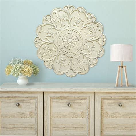 Check out our wall sculpture decor selection for the very best in unique or custom, handmade pieces from our wall hangings shops. Stratton Home Décor Shabby White Medallion Wall Décor - Stratton Home Decor