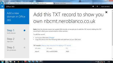 Office 365 Domain by Setting Up A New Office 365 Tenant Nero Blanco End To