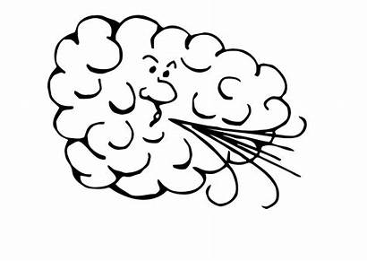 Wind Coloring Pages Windy Winds Weather Para