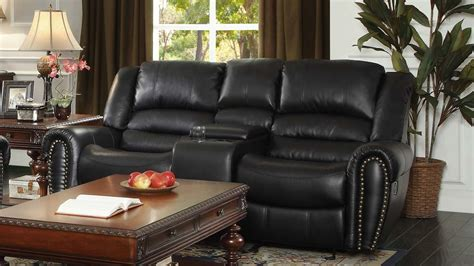 Leather Reclining Loveseat With Center Console by Reclining Loveseat With Center Console