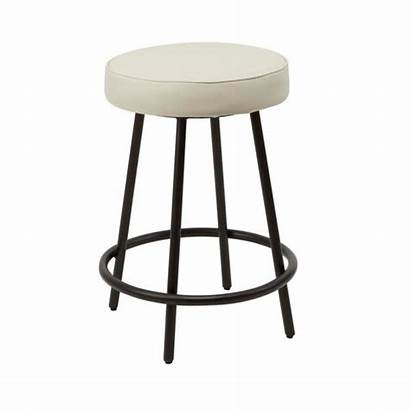 Backless Round Metal Upholstered Stools Bar Furniture