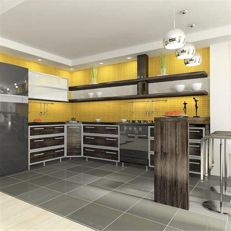 cuisine gris jaune deco cuisine gris et jaune
