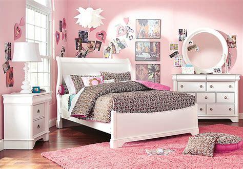oberon white  pc twin sleigh bedroom girls