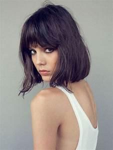 Carré Mi Long Plongeant : coiffure cheveux carre plongeant avec frange ~ Dallasstarsshop.com Idées de Décoration