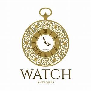Watch Antiques Logo Design Logo Cowboy