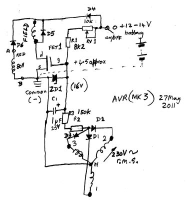 automatic voltage regulator schematic diagram wiring
