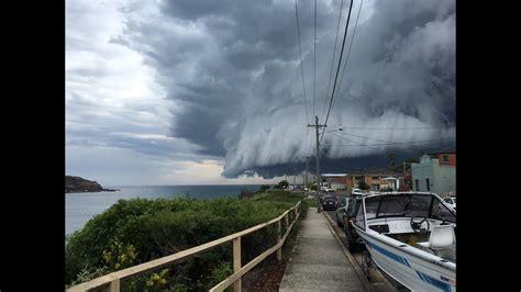 sydney storm  bondi beach cloud tsunami roll