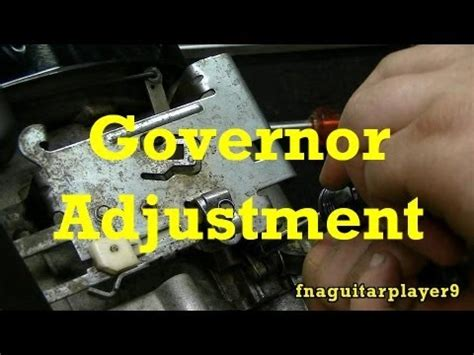 adjust mechanical governor  small engines youtube