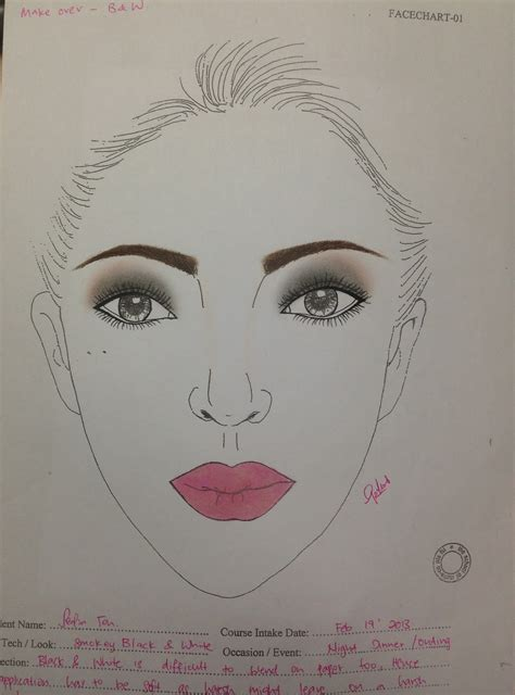 makeup   art paper works face charts eye templates