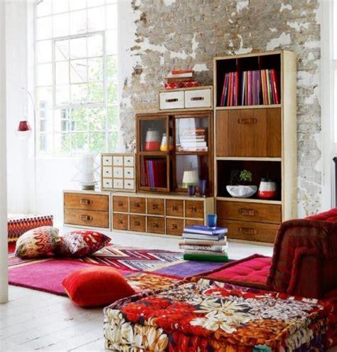 playful living room designs  boho style