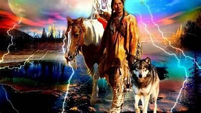 Native Wolf Indian Wallpapers Horse American Desktop