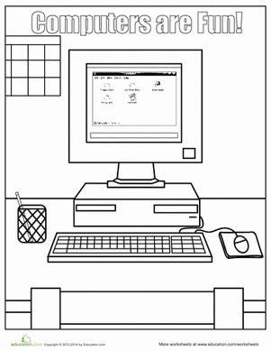 computer parts worksheets for kindergarten computer s worksheet education