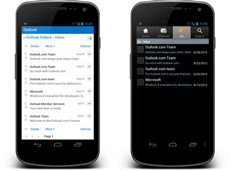 hotmail mobile site android how to access outlook e mail on android cnet