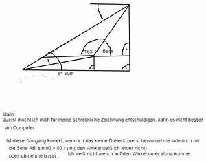 Rechtwinkliges Dreieck Berechnen Nur Eine Seite Gegeben : trigonometrie ein kirchturm wird von 2 punkten vermessen die einen abstand von 80 m haben ~ Themetempest.com Abrechnung