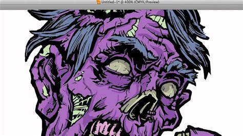 zombie vector coloring  illustrator part  youtube
